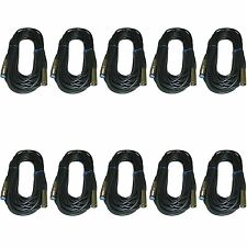 10 PACK 50 Ft foot XLR male to female Microphone cord audio extension Mic cable