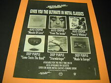 ALICE COOPER and DEEP PURPLE are METAL CLASSICS 1990 Promo Display Ad