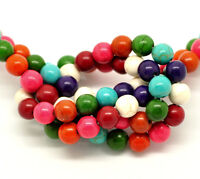 50 x 6mm Mixed Colour Turquoise Beads Craft Jewellery Beading Jewellery N18