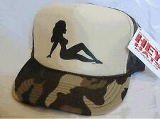 Camo Mud Flap Girl Trucker Hat mesh hat snapback hat