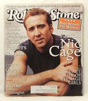 ROLLING STONE MAGAZINE #825 Nicolas Cage Nov 11 1999 KE