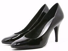 Fioni Heels Dress Shoes Womens size 6 W wide Black Patent Classic pumps Career