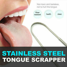 Stainless Steel Tongue Scraper Cleaner Oral Care Bad Breath Sweeper Health Tool/