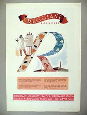 Reggiani Manifattura AND Lanificio di Paderno Dugnano PRINT AD - 1947 ~ fabrics