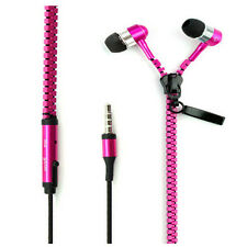 3.5mm In-ear Zipper Earphone Stereo Headset Earbuds Headphone with Mic Phone KY