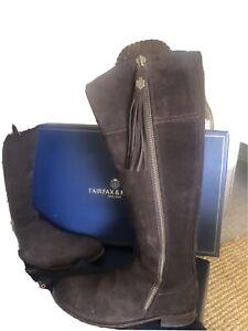 Fairfax & Favour Regina Chocolate Boots Size 9 (43). Fab Condition Worn Twice.