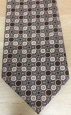 Vintage Tie c1970s Squares & Circles Pattern By Textura
