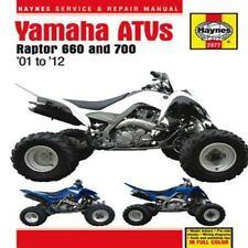 2001 - 2012 Yamaha Raptor 660 700 ATV Haynes Repair Service Manual  9775