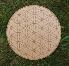 Flower of life Crystal Grid - Laser Engraved Sacred Geometry