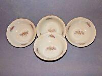Set of 4 - FINE BOHEMIAN CHINA - Individual Fruit Dessert Bowls - Bouquet