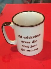 Novelty cricket themed ceramic mug