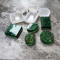 5Pcs/set Silicone Mould Craft Mold Set for Resin Necklace Pendant DIY Making KI