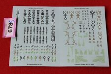 Games Workshop Warhammer 40k Necrons Double Sided Army Transfer Sheet Decals New