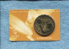 2000 Badminton  Sydney Olympic $5 UNC Coin Australia Sport =