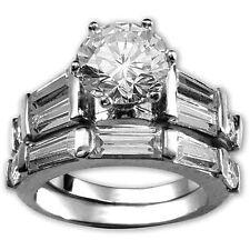 Diamond Alternatives Wedding Engagement Promise Ring 14k White Gold over 925 SS