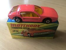 MATCHBOX SUPERFAST LAMBORGHINI MARZAL DAY GLOW ORANGE #20 NEAR MIB ORIGINAL BOX