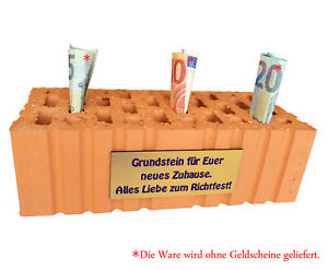 Foundation Stone Brick Topping-Out Einweihungsgeschenk Topping-Out Gift Idea