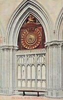 WELLS SOMERSET UK~CATHEDRAL~THE OLD CLOCK PHOTO POSTCARD