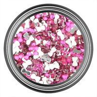 Dark Pink Bow Rhinestone Gems Flatback Face Art Nail Art Scrapbook Phone 3mm