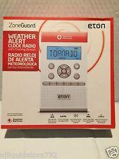 Eton-ZoneGuard AM/FM/Weather Alert Clock Radio-White  FREE PRIORITY SHIPPING !!