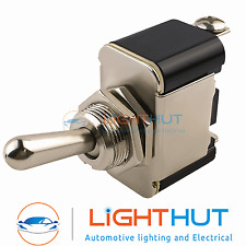 12V 25A Metal Toggle Spring Momentary Flick Switch Screw Terminals Car Van Dash