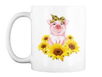 Pig Sunflower Gift Coffee Mug