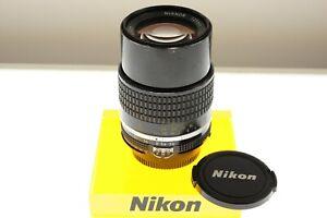 Nikon Nikkor 135mm f/3.5 Ai-s telephoto lens. EXC+ condition. Legendary optics!