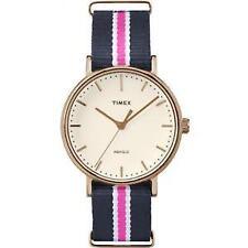 Reloj Timex Mujer 38mm Banda De Nylon Multicolor Estuche de Acero Cuarzo  Reloj TW2P91500 be27b91cb568