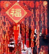 Chinois énorme 115 cm Rouge Artificiel Déco pétards anniversaire japonais Parti
