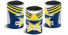 North QLD Queensland Cowboys NRL Can Cooler Stubby Holder 2017 JERSEY TYPE 003G