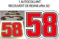 MARCO SIMONCELLI 58 Vinyl Sticker Aufkleber Adesivo Autocollant Pegatina 50 mm