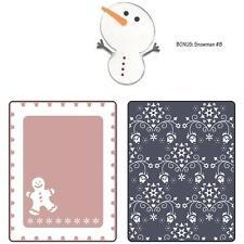 Sizzix Gingerbread Man & Nordic Flowers Set Embossing Folder + Bonus Snowman Die