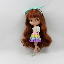 """Takara 12"""" Neo Blythe Dark Brown Hair Nude Doll from Factory TBY75"""