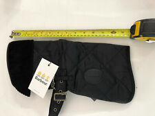 Barbour Quilted Dog Coat Black Size Small With Tag's