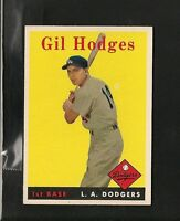 6141* 1958 Topps # 162 Gil Hodges NM-MT