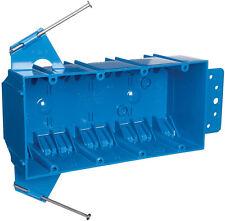 Carlon  7-3/5 in. Rectangle  PVC  4 Gang  Blue  4 gang Outlet Box