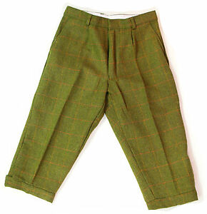 """Mens Derby Tweed Breeks Plus Fours Breeches Country Wear 2 Cols Trousers 32-46"""""""