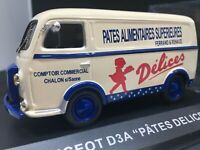 Altaya camion Peugeot D3A pates delices 1:43  neuf