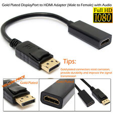 Display Port to Hdmi Video Adapter DP to HDMI Cable Dell ThinkPad Lenovo HP PC