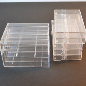 Norelco Audio Cassette Boxes 20 Empty Cases Hard Plastic Clear Storage Tape Case