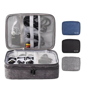 Travel Cable Organizer Bag Electronic Accessories Charger USB Drive Storage Case