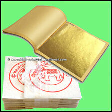 100 GOLD LEAF LEAVES SHEETS - EDIBLE - 99.9% Pure - 24 Ct - Food Grade - GENUINE