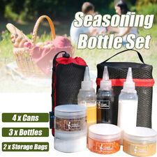 7 x Plastic Seasoning Condiment Spice Jar Salt Pot Bottle Box Storage