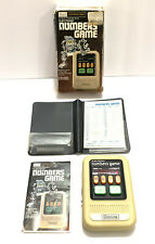 Rare Sears Electronic Numbers Game w/ Manual, Scorecards, & Case 1970's - Tested