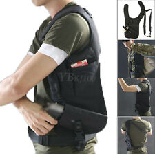 Tactical Adjustable Black Underarm Left Arm Shoulder Hidden Pistol Gun Pouch Bag