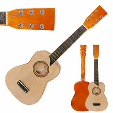 Natural Color Kids Toy Guitar Childrens Acoustic Prop Musical String Practice