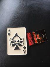 Mobtown Ace Of Spade Skull And Cross Bone Belt Buckle