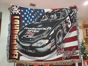 Vintage Dale EARNHARDT THROW Blanket The Intimidator