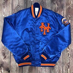 Vintage STARTER MLB NY New York Mets Satin Jacket Size XL