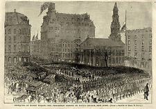 ST PAUL'S CHAPEL CHURCH NEW YORK CITY, VP Henry Wilson Funeral Procession  1875
